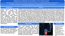 Irradiation techniques for treatment of the thyroid cancer